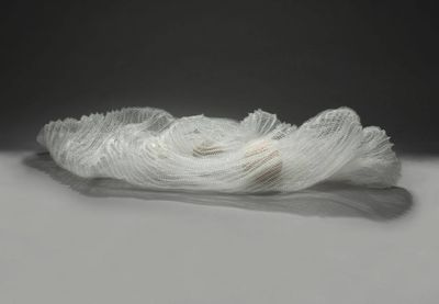 Undulated (Basket) by Leslie Pontz - search and link Sculpture with SculptSite.com