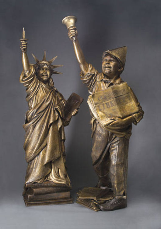 Let Freedom Ring and Lil Liberty by James Muir - search and link Sculpture with SculptSite.com