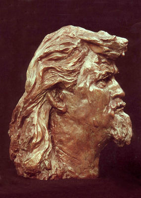 Billy Connolly by Luke Shepherd - search and link Sculpture with SculptSite.com