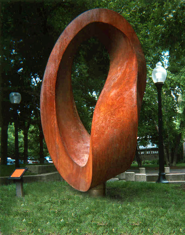 Double Mobius Strip 2002 by Plamen Yordanov - search and link Sculpture with SculptSite.com