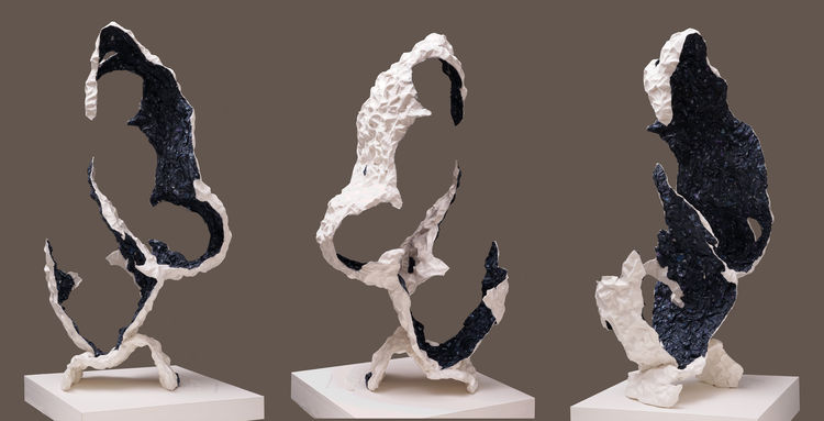 Eroded Blue by Ray Besserdin - search and link Sculpture with SculptSite.com
