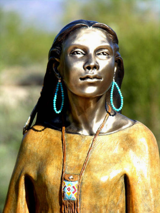 DAUGHTER WHO WALKS WITH WOLVES by J. Anne Butler - search and link Sculpture with SculptSite.com