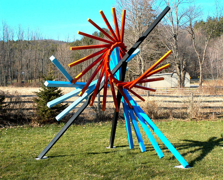 For Mondrian by Roslyn Mazzilli - search and link Sculpture with SculptSite.com