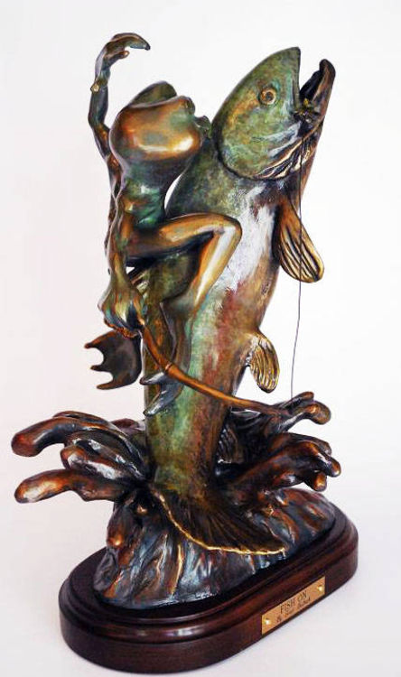 Fish On! by Scott Bullock - search and link Sculpture with SculptSite.com