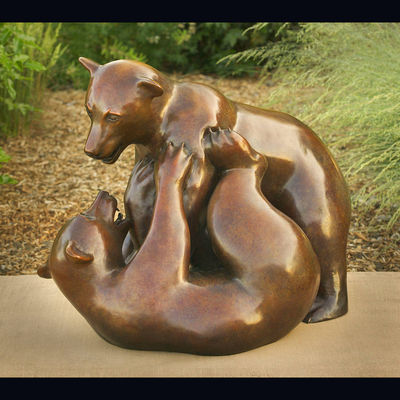 Cubs At Play by Sarah Mayer - search and link Sculpture with SculptSite.com