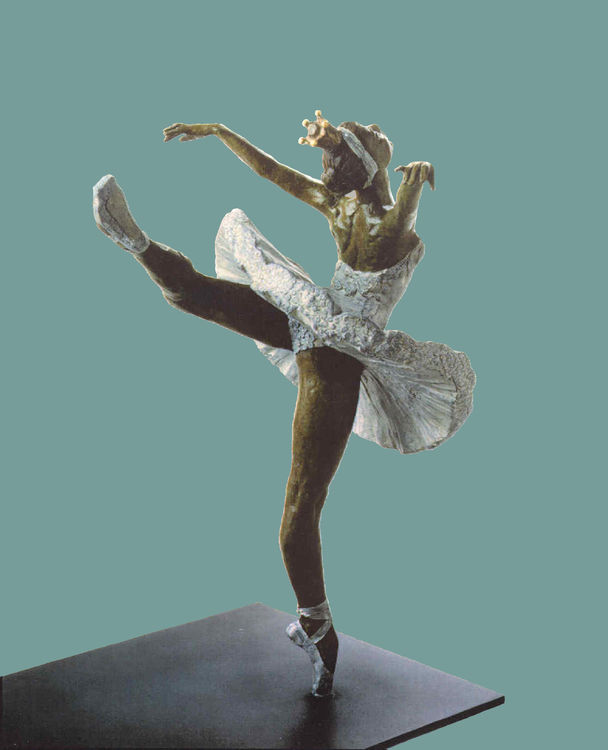 Swan-Lake's-Princess-Odette by Sterett-Gittings Kelsey - search and link Sculpture with SculptSite.com