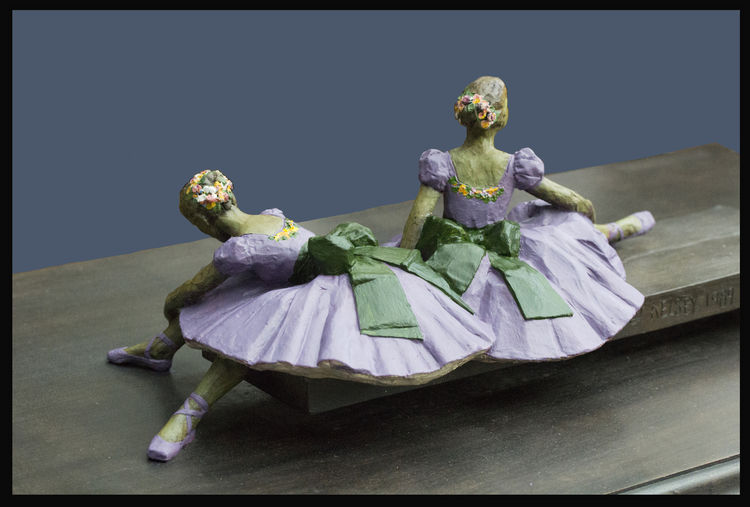 Degas-Dancers-Felicity-Foote-and-Sabina-Cartier by Sterett-Gittings Kelsey - search and link Sculpture with SculptSite.com