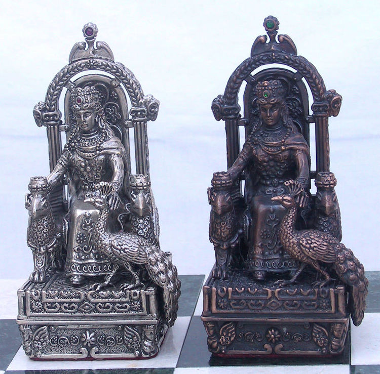 Armenian Historical  Silver Chess  Set by Tigran Sarkisyan - search and link Sculpture with SculptSite.com