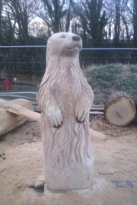 Otter by Simon Archer - search and link Sculpture with SculptSite.com